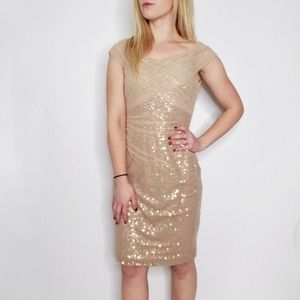 Ralph Lauren Evening Blush Rosegold Sequin Dress 4
